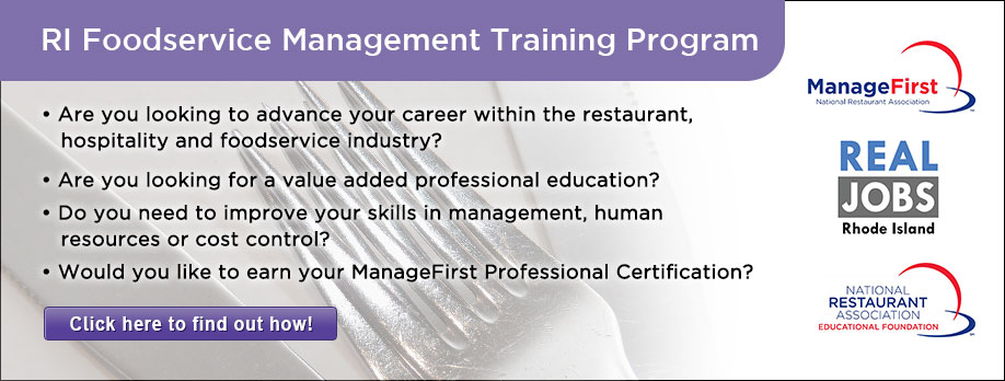 RI Food Management Training Program