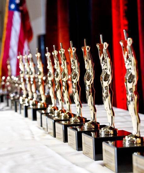 Stars of the Industry award trophies